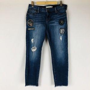 Torrid Jeans Sz 14 Womens Boyfriend Straight Raw H